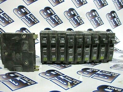Square D Qo115 1 Lot Of 10 15a 120v 1p Yellow Circuit Breaker - Warranty