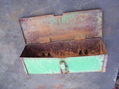 Vintage Oliver 1600 -1650 Tractor -fender Mount Tool Box - Rusty