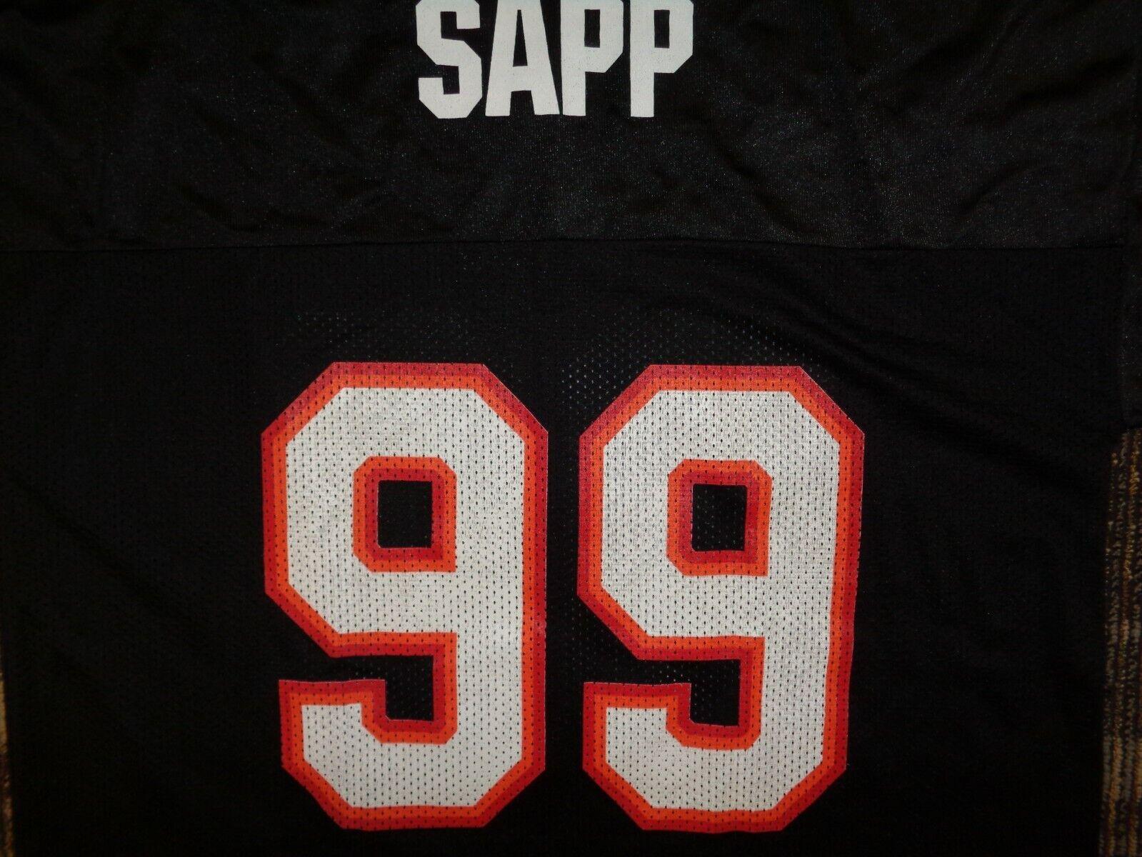 LOT-WARREN SAPP GARNER TAMPA BAY BUCCANEERS REEBOK MENS BLACK NFL GAME JERSEYS  - $49.99
