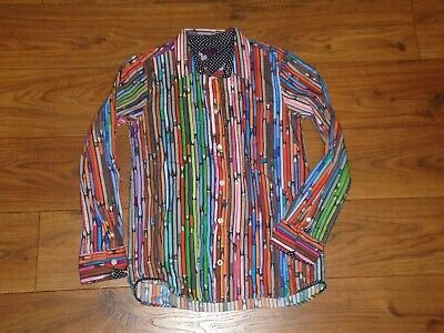 Paul Smith Junior Jr. Youth Boys Long Sleeve Button Up Shirt Colored Pencils 10a