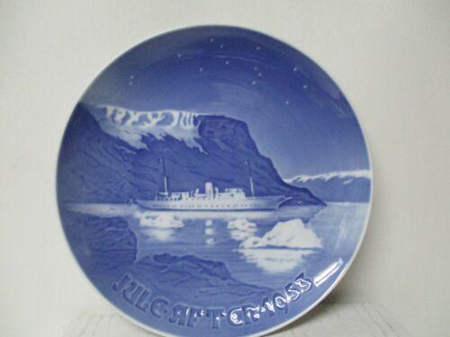 1953 B&G Bing & Grondahl Denmark Porcelain Christmas Plate - Ship