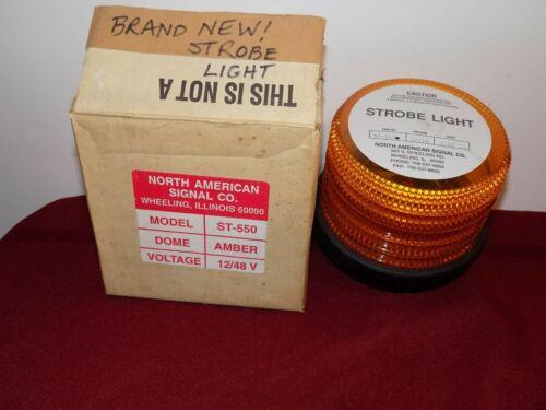 North American Signal ST-550 Strobe Light Orange 12/48V
