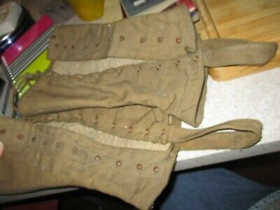 Spats, Gaiters, Puttees – Vintage Shoes Covers WWII World War Two Gaiters Spats Leggings antique military field gear protectors $29.99 AT vintagedancer.com
