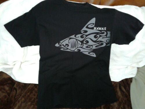 HAWAIIAN SURF SHIRT TRIBAL SHARK HAWAII BLACK TSHIRT LOGO LNWOT SZ.XL NO TAG