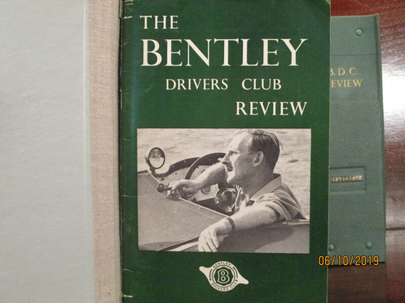 The Bentley Drivers Club Review. Complete 1962 to 1973. 48 issues, 4 binders.