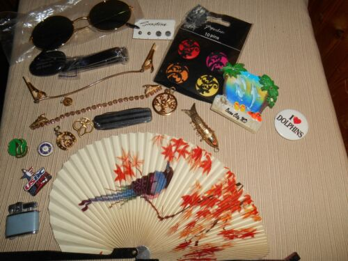 Vintage Junk Drawer Lot of Miscellaneous Items Lighter Jewelry Scouts Knife #11