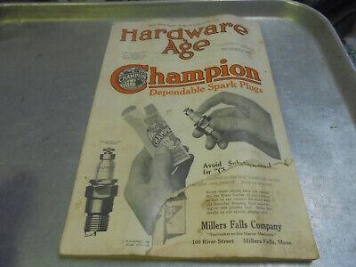 Vintage 1919 Hardware Age Magazine Lots of Tool Ads