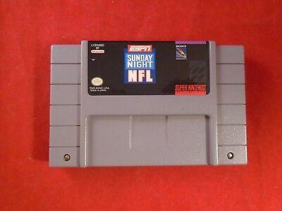 Espn Sunday Night Nfl  Super Nintendo Snes  1994  Game Works  Football