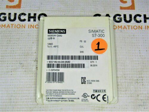 SEALED NEW Siemens 6ES7 953-8LG30-0AA0 6ES7953-8LG30-0AA0 Memory Card 128KB