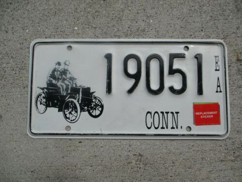 Connecticut Early American Old Car license plate  #  19051