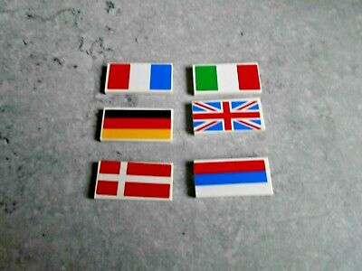 LOT DE 6 PIECES LEGO - [ DRAPEAUX ]