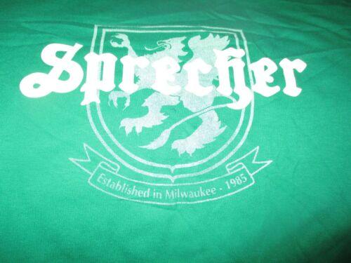 Green SPRECHER BREWERY Logo T Shirt Large Milwaukee BEER