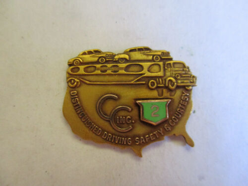 CC Inc 3yr Trucking Truck Driver Employee Safety Award Pin