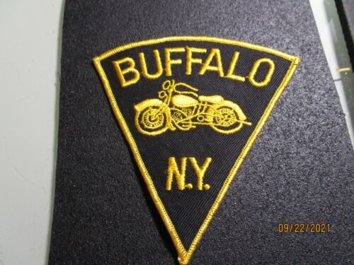 BUFFALO  N.Y.  MOTORCYCLE VINTAGE PATCH FROM THE 1960