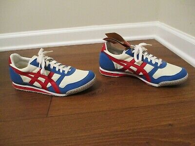 NWT Men's Size 7.5 Asics Onitsuka Tiger Ultimate 81 Shoes White Blue Red