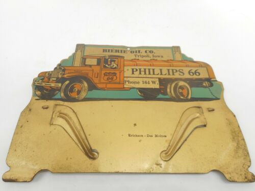 Vintage PHILLIPS 66 GAS STATION OIL Advertising Calendar Topper SIGN