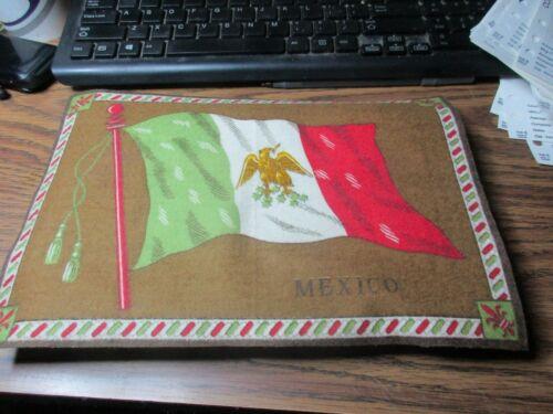 Ca. 1900 Mexico Felt Flag