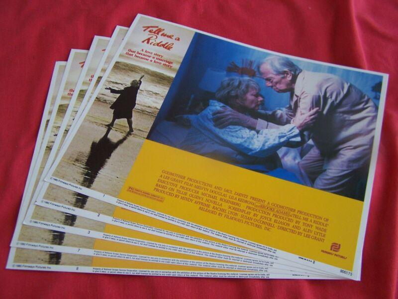 """"""" TELL US A RIDDLE """" Movie-Set of (5)LOBBY CARDS ~Melvyn Douglas-Lila Kedrova"""