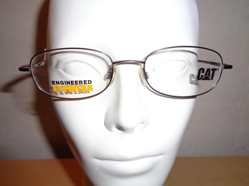 CATERPILLAR CAT Eyewear Silver Gray Metal Eyeglass Frames - 50mm 19mm 140mm