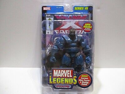 MARVEL LEGENDS SERIES 7 APOCALYPSE  W/ COMIC AND WALL MOUNT