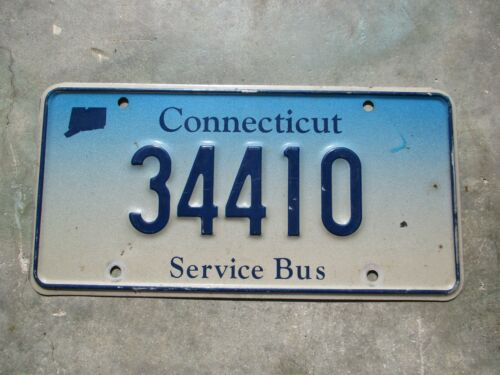 Connecticut Service BUS license plate  #  34410