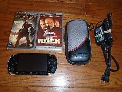 TESTED Sony PSP Handheld console 1001 black, Game & UMD Mov Playstation Portable