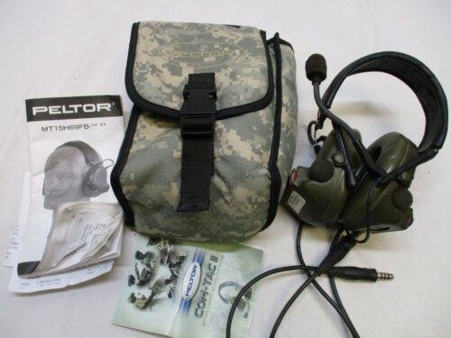 PELTOR COMTAC II DUAL COMMS OD GREEN (NO PTT SWITCH) TACTICAL RADIO HEADSET