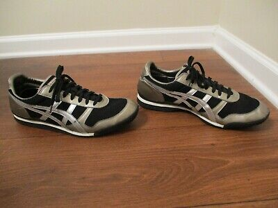 Used Worn Size 12 Asics Onitsuka Tiger Ultimate 81 Shoes Black Silver White