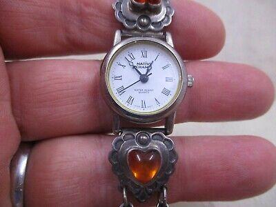 NATIVE CHANTS El Tom Sterling Multi Gemstone Toggle Bracelet White Dial Watch  Multi Gemstone Watch
