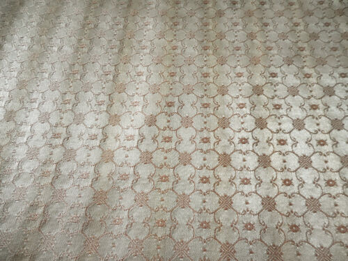 Vintage Soft Pink Small Scale Satin Jacquard Fabric ~Home Projects Clothing Doll