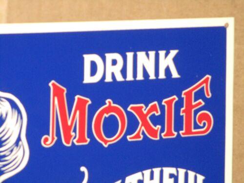 MOXIE 5c Girl -SODA FOUNTAIN -Soda Pop -SOFT DRINK -HEALTHFUL & REFRESHING -Sign
