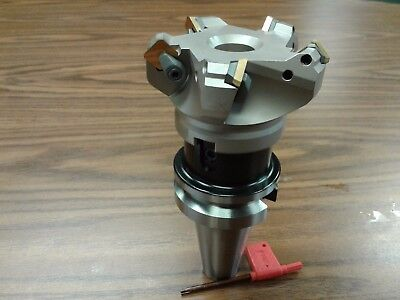 3 45 Degree Indexable Face Shell Mill W. Bt40 Arborface Milling Cutter-new