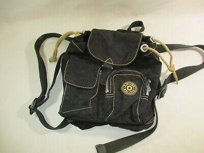 Kipling Black Small Mini Drawstring Nylon Backpack