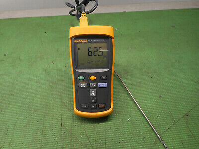 Fluke 52 Ii Dual Probe Digital Thermometer K Type Probe 52-2