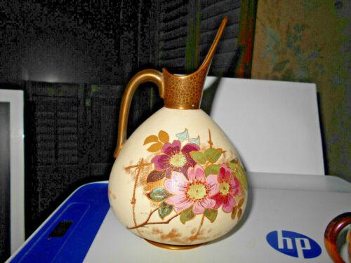 """Doulton Burslem Porcelain Pitcher~Victorian Slaters Patent """"Laced""""~H.P. Spout"""