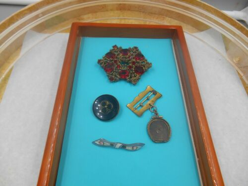 SMALL LOT ANTIQUE JEWELRY AS FOUND FOR REPAIR OR SALVAGE DESIGN PROJECTS
