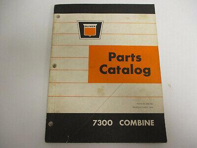 Oliver 7300 Combine Parts Catalog