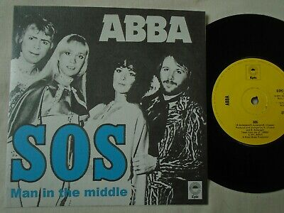 ABBA - SOS / MAN IN THE MIDDLE 1975 UK CUSTOM SLEEVE EX