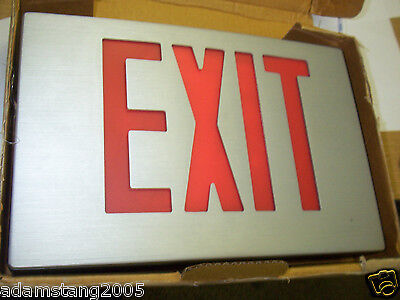 Fire Exit Alarms (NEW HIGH LITES ZBLED-5-R RED EXIT SIGN FIRE ALARM)