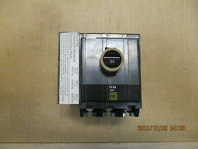 New Open Box Square D Qob3501021 Circuit Breaker 3 Pole With Shunt Trip.