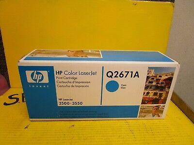 Hp Hewlett Packard Color Laserjet Print Cartridge Q2671a Cyan 3500 3550 Sealed