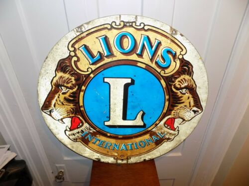 Lions Club Double Sided Metal Sign