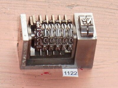 Letterpress Numbering Machine Key 1122