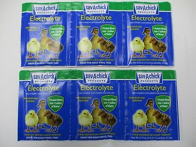 Sav-a-chick - Electrolyte And Vitamin Supplement For Poultry- 6 Packages