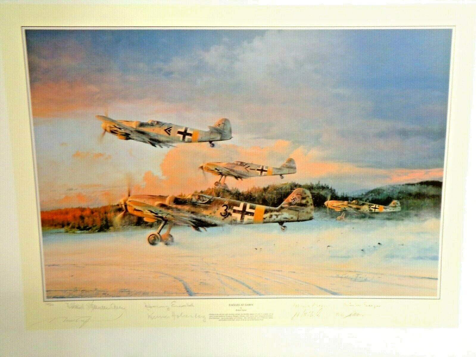 ROBERT TAYLOR FINE ART PRINT - EAGLES AT DAWN - 9 SIGNATURES W/ COA 367/850 - $725.00