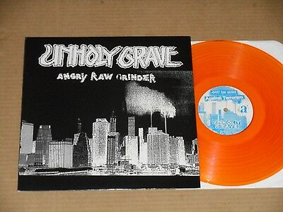 UNHOLY GRAVE angry raw grinder ORANGE LP NEW agathocles capitalist casualties