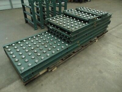 33 Of Hytrol Gravity Ball Roller Conveyor Sections With Legs