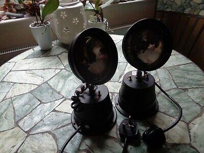 Pair of Vintage Par 36 Scanner Rotating Disco Light  Pin Spot Retro
