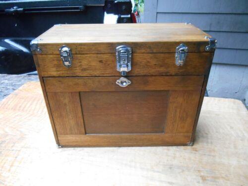"Vintage H.GERSTNER & Sons OAK O42 Machinists Tool Chest O42 20""W 11 drawer"