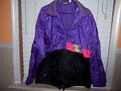 LIGHTNING BOLT Nylon Windbreaker Jacket Men's Size XL Purple/Black VINTAGE